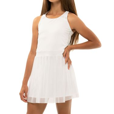 Lucky in Love Girls Core Game Time Dress White D16 110