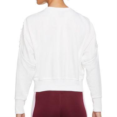 Nike Long Sleeve Crop Top Womens White/Clear DA0447 100