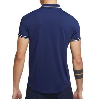 Nike Court Dri Fit Advantage Slam Polo Shirt Mens Binary Blue/White DA4325 429