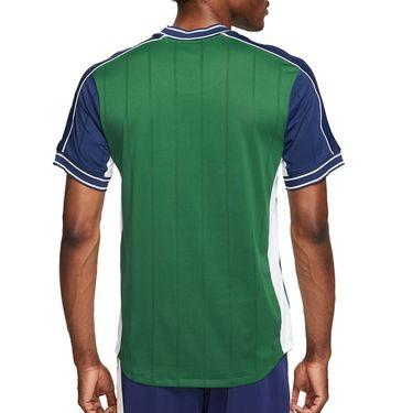 Nike Court Dri Fit Slam Crew Shirt Mens Gorge Green/Binary Blue/White DA329 341