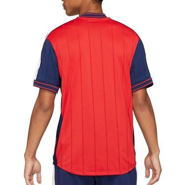 Nike Court Dri Fit Slam Crew Shirt Mens University Red/White/Binary Blue DA329 657