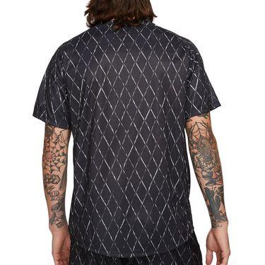 Nike Court Dri Fit Victory Shirt Mens Black/White DA4366 010