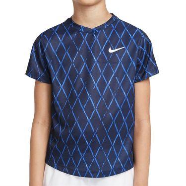 Nike Court Boys Dri Fit Victory Crew Shirt Obsidian/White DA4378 451