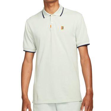 Nike The Nike Polo Shirt Mens Grey Haze/Obsidian DA4379 013