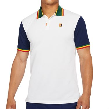 Nike The Nike Polo Shirt Mens White/Binary Blue DA4379 100