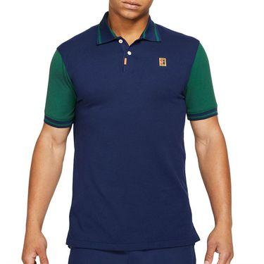 Nike The Nike Polo Shirt Mens Binary Blue/Gorge Green DA4379 429