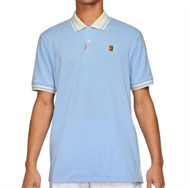 Nike The Nike Polo Shirt Mens Aluminum/Coconut Milk DA4379 468