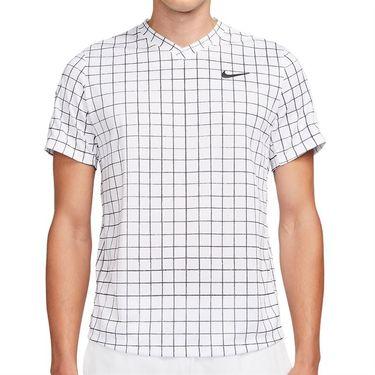 Nike Court Dri Fit Victory Crew Shirt Mens White/Black DA4398 100