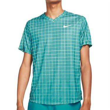 Nike Court Dri Fit Victory Crew Shirt Mens Rift Blue/White DA4398 415