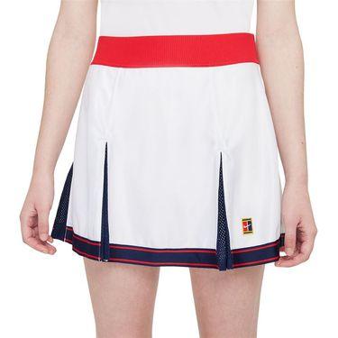 Nike Court Dri Fit Slam Skirt Womens White/University Red/Binary Blue DA4714 100