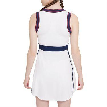 Nike Court Dri Fit Slam Dress Womens White/Binary Blue DA4716 100