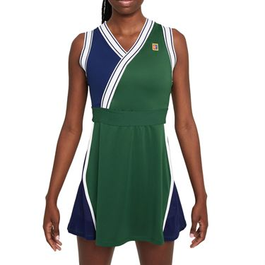 Nike Court Dri Fit Slam Dress Womens Gorge Green/Binary Blue DA4716 341