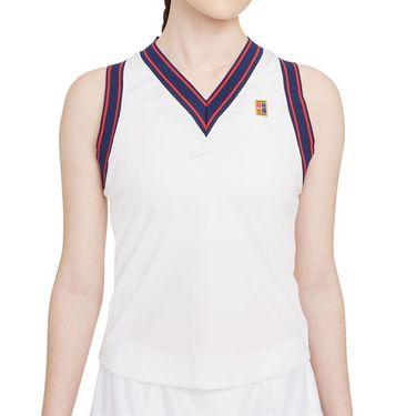 Nike Court Dri Fit Slam Tank Womens White DA4718 100