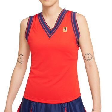 Nike Court Dri Fit Slam Tank Womens University Red DA4718 657
