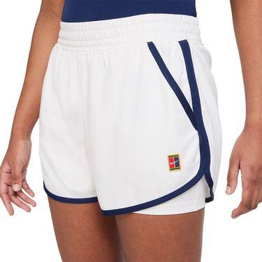 Nike Court Dri Fit Slam Short Womens White/Binary Blue DA4728 100