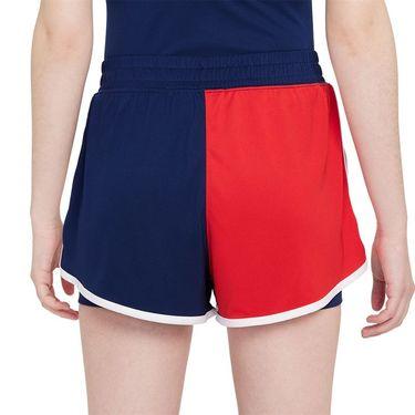 Nike Court Dri Fit Slam Short Womens Binary Blue/University Red/White DA4728 429
