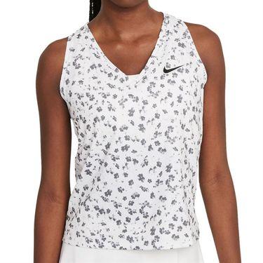 Nike Court Dri Fit Victory Tank Womens White/Black DA4734 100