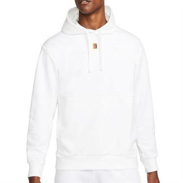 Nike Court Dri Fit Hoodie Mens White DA5711 100