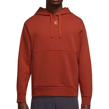 Nike Court Dri Fit Hoodie Mens Cinnabar DA5711 671