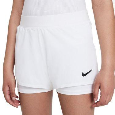 Nike Court GIrls Dri Fit Victory Shorts White/Black DB5612 100