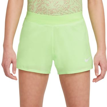 Nike Court GIrls Dri Fit Victory Shorts Lime Glow/White DB5612 345