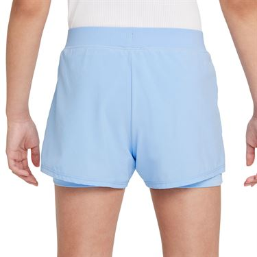 Nike Court Girls Dri Fit Victory Shorts Aluminum/Black DB5612 468