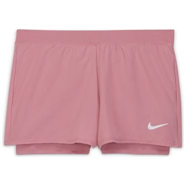 Nike Court GIrls Dri Fit Victory Shorts Elemental Pink/White DB5612 698