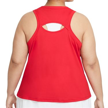 Nike Court Victory Tank Extended/Plus Size Womens University Red/White DB6605 659