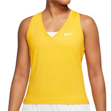 Nike Court Victory Tank Extended/Plus Size Womens University Gold/White DB6605 739