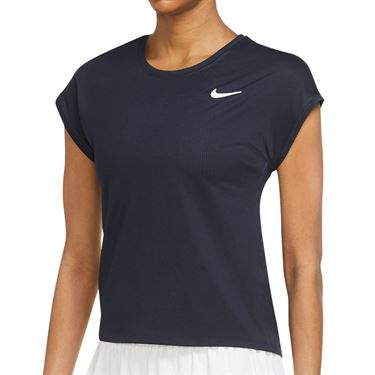 Nike Court Victory Top Extended/Plus Size Womens Obsidian/Obsidian/White DB6618 452