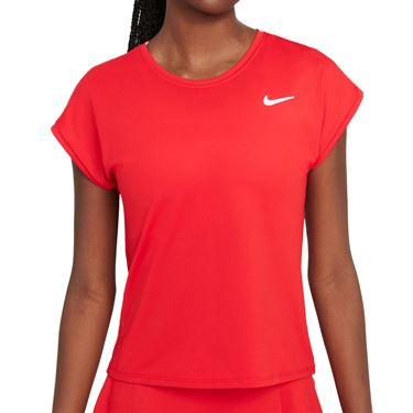 Nike Court Dri Fit Victory Top Extended/Plus Size Womens University Red/White DB6618 658