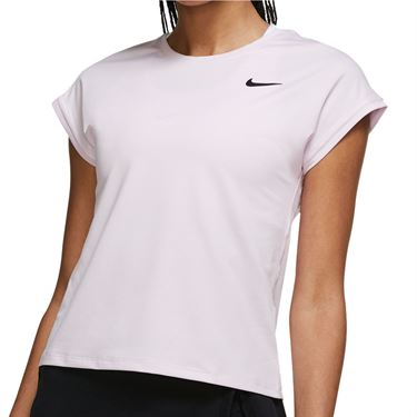 Nike Court Dri Fit Victory Top Extended/Plus Size Womens Regal Pink/Black DB6618 695