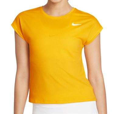 Nike Court Dri Fit Victory Top Extended/Plus Size Womens University Gold/White DB6618 739
