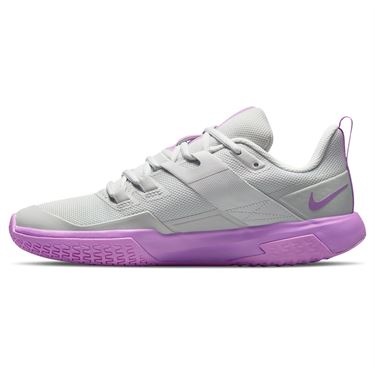 Nike Court Vapor Lite Womens Tennis Shoe Photon Dust/Fuchsia Glow/White DC3431 024