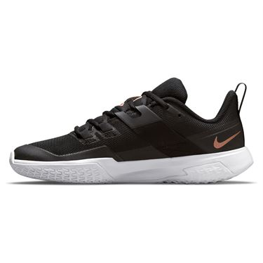 Nike Court Vapor Lite Womens Tennis Shoe Black/Metallic Red Bronze/White DC3431 033