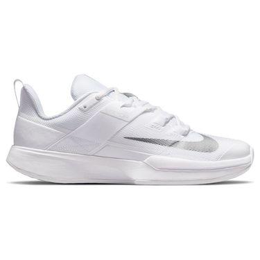 Nike Court Vapor Lite Womens Tennis Shoe White/Metallic Silver DC3431 133