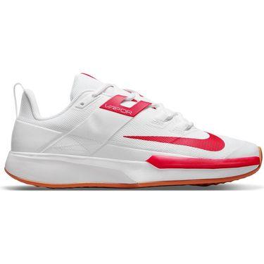 Nike Court Vapor Lite Mens Tennis Shoe White/University Red/Wheat DC3432 188