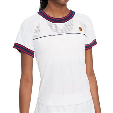 Nike Court Dri Fit Slam Top Womens White DC9462 100
