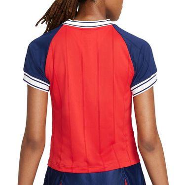 Nike Court Dri Fit Slam Top Womens University Red/Binary Blue DC9462 657
