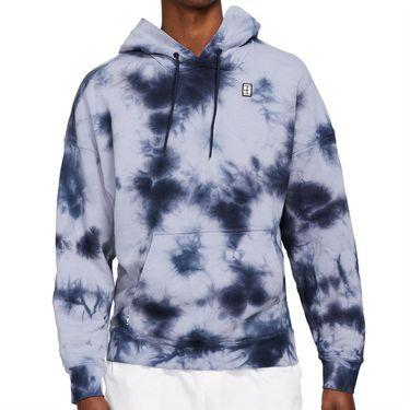 Nike Court Hoodie Mens Indigo Haze/White DC9684 510