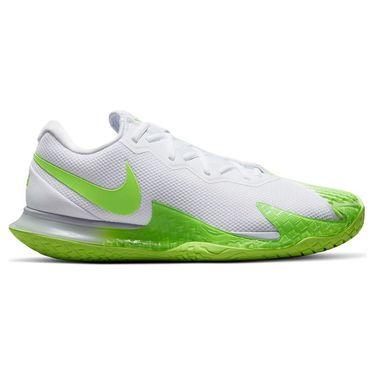 Nike Court Zoom Vapor Cage 4 Rafa Mens Tennis Shoe White/Lime Glow/Obsidian DD1579 100