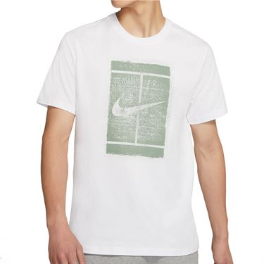 Nike Court Tee Shirt Mens White/Steam DD2228 101