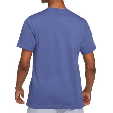 Nike Court Logo Tee Shirt Mens Dark Purple Dust/Indigo Haze DD2228 510