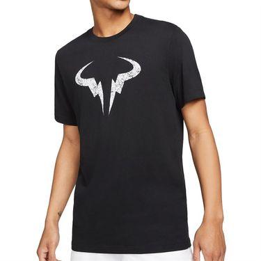 Nike Rafa Logo Tee Shirt Mens Black/White DD2248 010