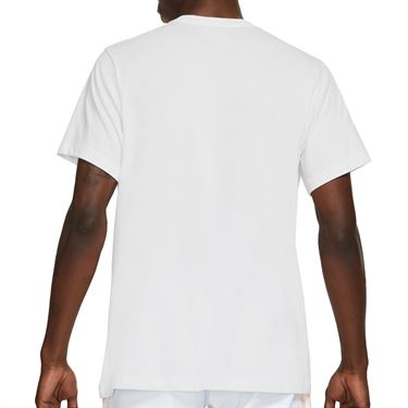 Nike Rafa Logo Tee Shirt Mens White/Obsidian DD2248 100
