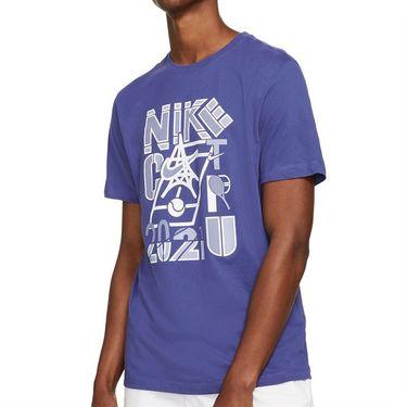 Nike Court Tee Shirt Mens Dark Purple Dust DD2250 510