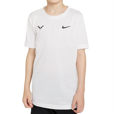 Nike Court Boys Rafa Crew Shirt White/Black DD2304 100