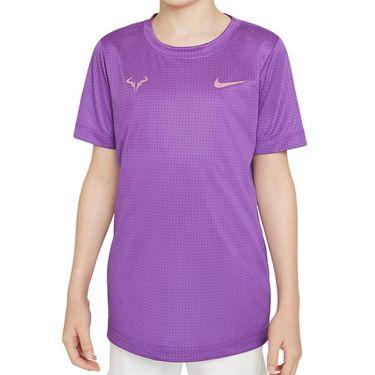 Nike Court Boys Rafa Crew Shirt Wild Berry/Elemental Pink DD2304 528