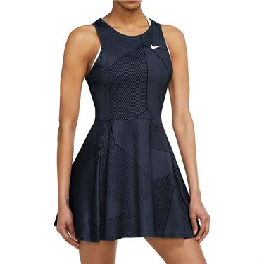 Nike Court Dri Fit Advantage Dress Womens Obsidian/White D2744 451
