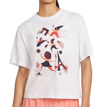 Nike Court Dri FIT Tee Shirt Womens White DD9628 100